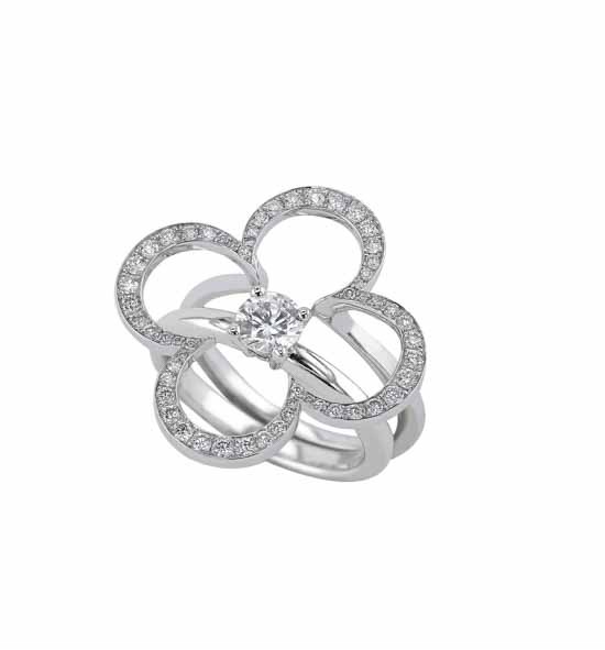 Bague solitaire diamant design
