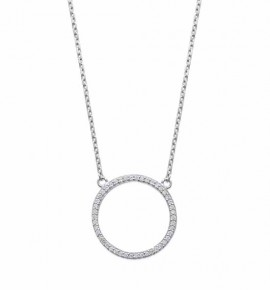 Collier Eclipse en argent empierrée