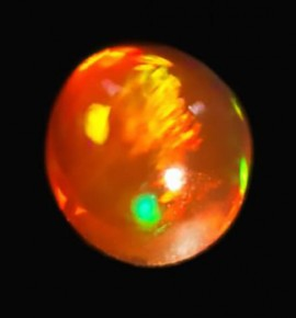 Opale de feu 0.63ct - origine Mexique