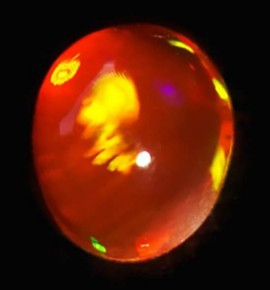 Opale de feu 0.52ct - origine Mexique
