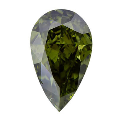 Exemple de diamant caméléon fancy dark vert