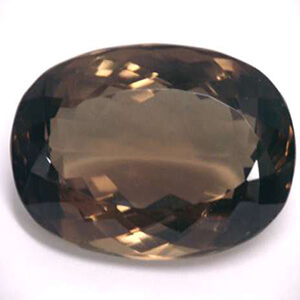 Exemple de quartz fumé brun oval transparent sans inclusion