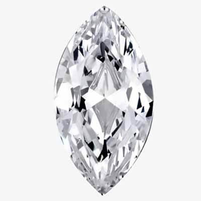 Zircon blanc taille marquise